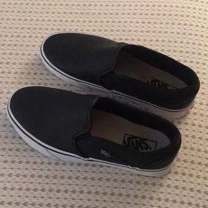 New Black Vans Slip-on Shoes - 8